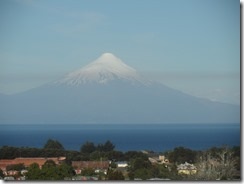 No not Mount Fuji, but clearly a volcano viewed from the coach out of Puerto Montt