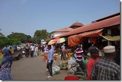 Market by the dalla dalla terminus