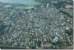 Tightly packed houses in Stone Town