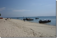 The beach in Stone Town