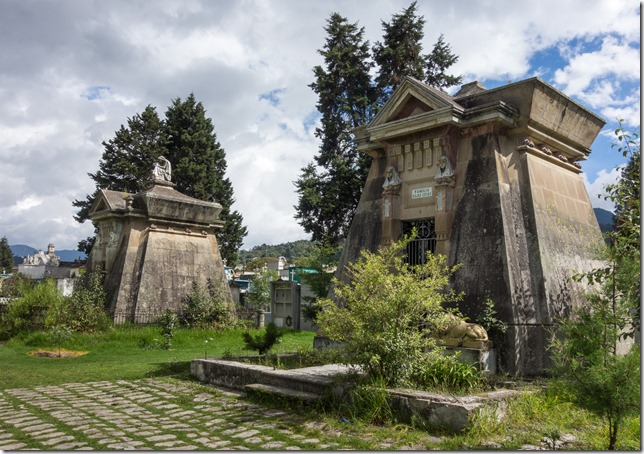 Mausoleums in the cemetery