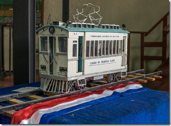 Only a model of the train is left