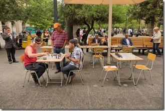 Chess in the Plaza de Armas