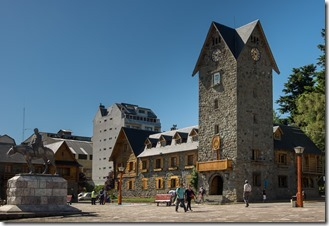 Main square in Bariloche