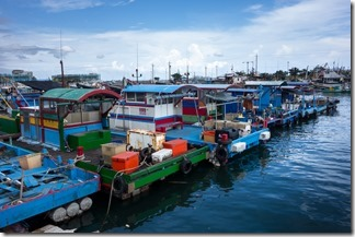 Fishing boats in Wai'ao harbour