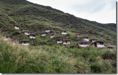 Meditation huts - not beehives