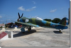 Cuban airforce plane outside the museum