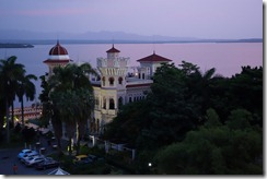 View from our balcony of the palace in Cienfuegos