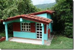 Our cabaño - pretty, but basic inside - and watch out for the crabs!