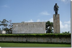 Statue of Che outside his museum and mausoleum