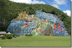 Monstrous graffiti - The prehistoric mural at Viñales
