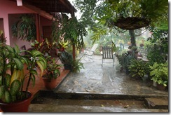 Rain outside our room