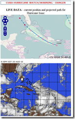 Hurricane Isaac warning from cubaweather.org