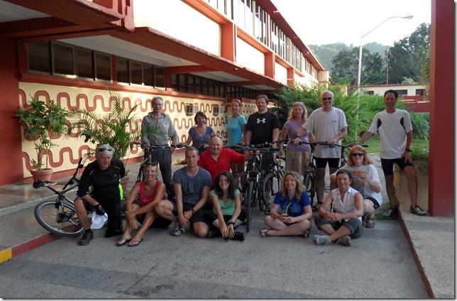 The winning cycling team