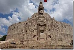 Not a Mayan site, but Monumento a la Bandera in Mérida