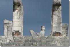 Chac-Mool - Reclining god above the Templo de los Guerros