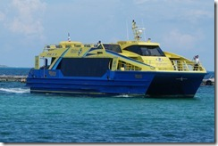 High speed ferry to Isla Mujeres - In RyanAir colours!