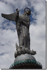 Not a Weeping Angel, but the Virgin of Quito on El Panecillo