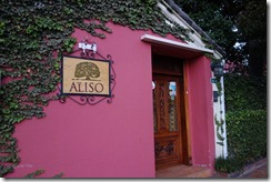 Entrance to Casa Aliso - Our hotel in Quito