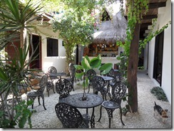 Courtyard at Tulum hotel