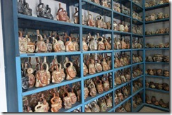 Shelf after shelf of pots in the storeroom of Museo Larco