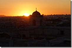 Sunset over Arequipa