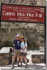 At the start of the Inca Trail