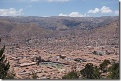 Cusco from hilltop