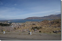 Our first glimpse of Lake Titicaca