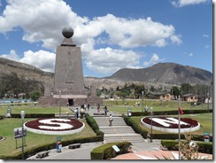 Mitad del Mundo monument on (near) the Equator
