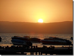 Sunset over Paracas beach
