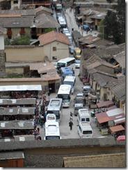 Tourist traffic jam