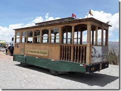 Cusco Trolley car - for tourists only of course!