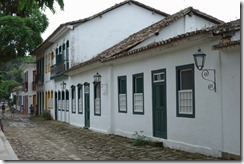 Pretty buildings, terrible cobbles in Paraty