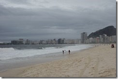 Copacabana Beach - its not supposed to be like this!