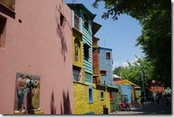 Painted houses in La Boca district