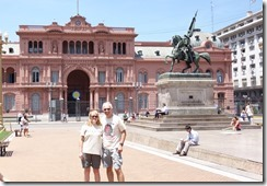Don't cry for us - outside the Casa Rosada in Plaza de Mayo