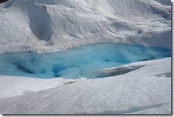 Pool in the middle of the glacier