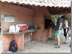 How many tourists to light a barbeque?