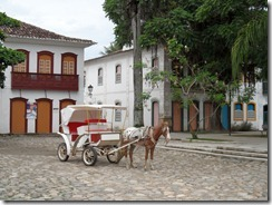 Cobbled main square in Paraty