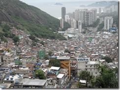 Looking down from the top of the favela