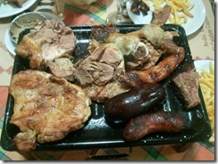A whole lotta meat - our Parilla