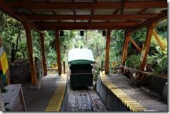 Funicular under repair