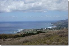 View of airport and Hanga Roa