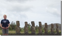 Eight statues