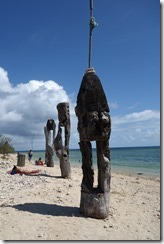 Carvings on the beach