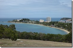 Looking down on Anse Vata beach