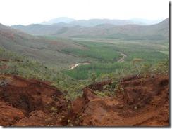 Deserted landscape going on for miles