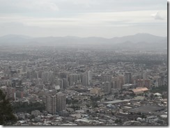 Looking out over Santiago