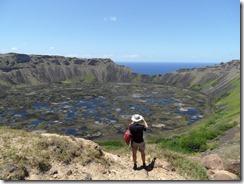 I see no statues - Rano Kau Crater